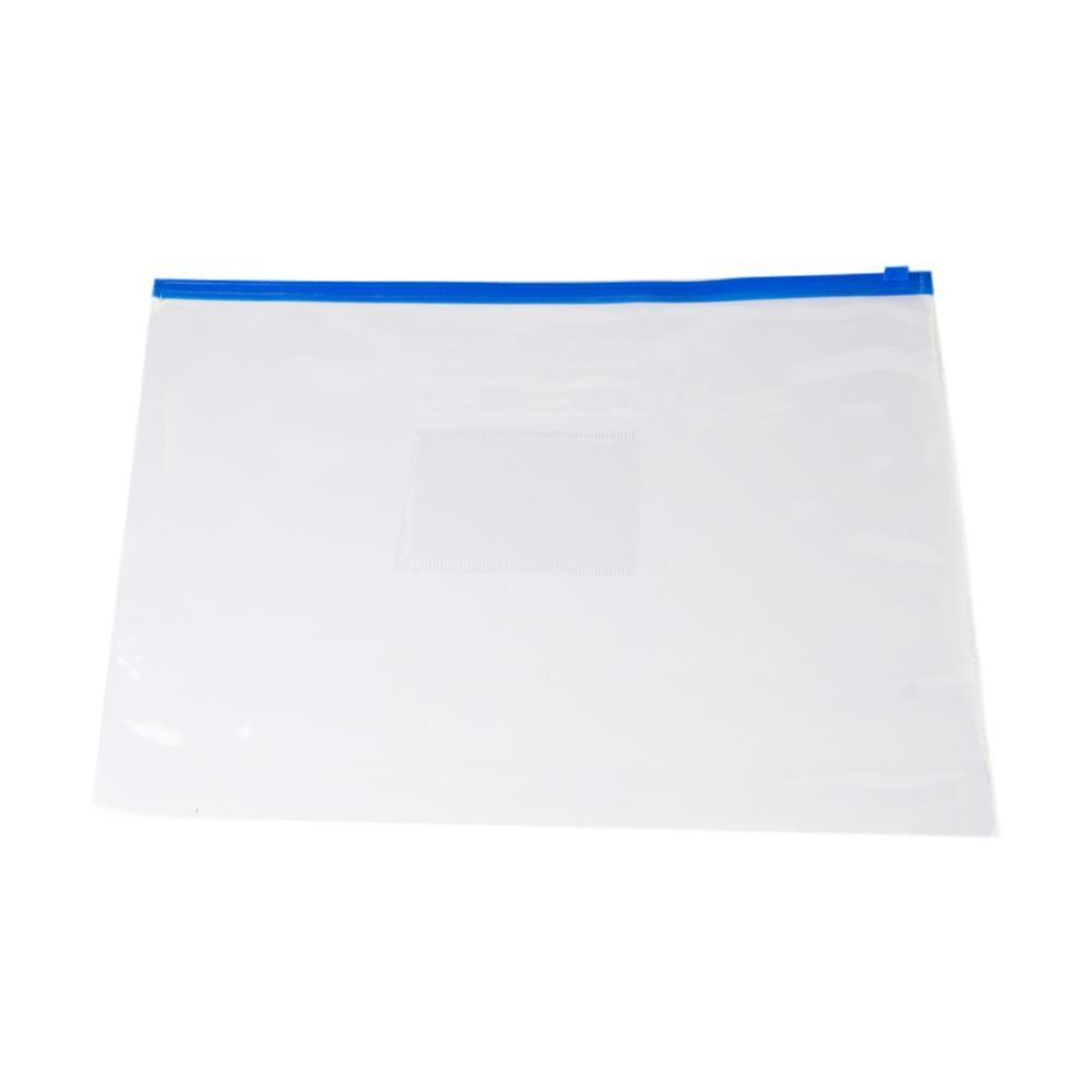Pack of 12 A4 Blue Zip Zippy Bags