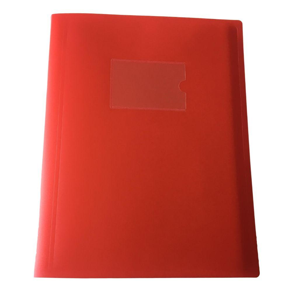 A4 Red Flexible Cover 20 Pocket Display Book