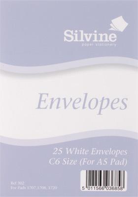 Silvine C6 Envelopes
