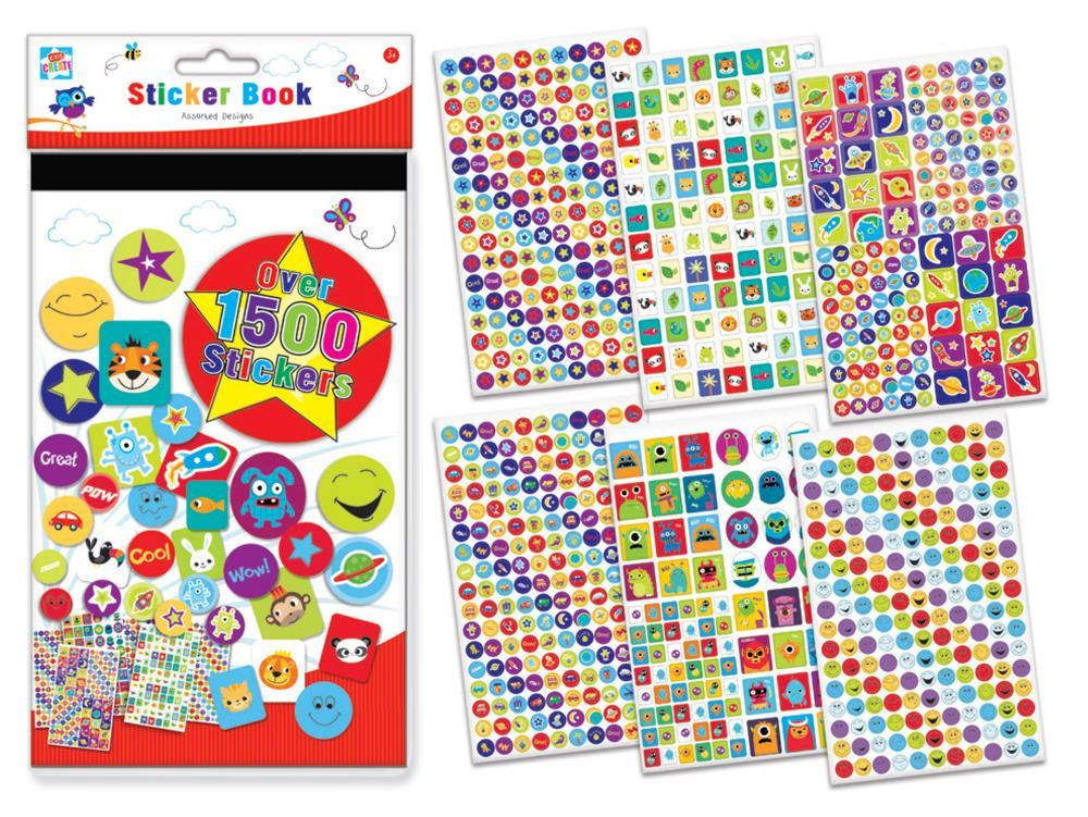 Sticker Book Assorted Designs - Over 1500 Stickers