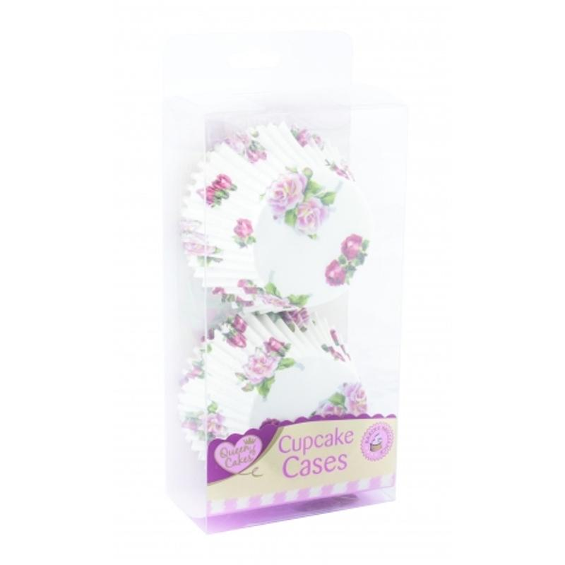 60 Pack Cupcake Cases - Flower Design
