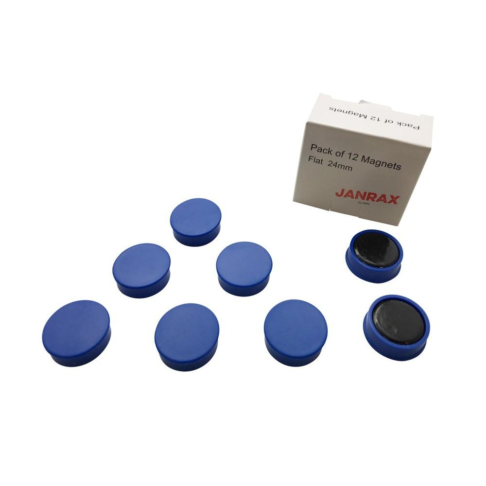 Pack of 12 Blue 24mm Magnets
