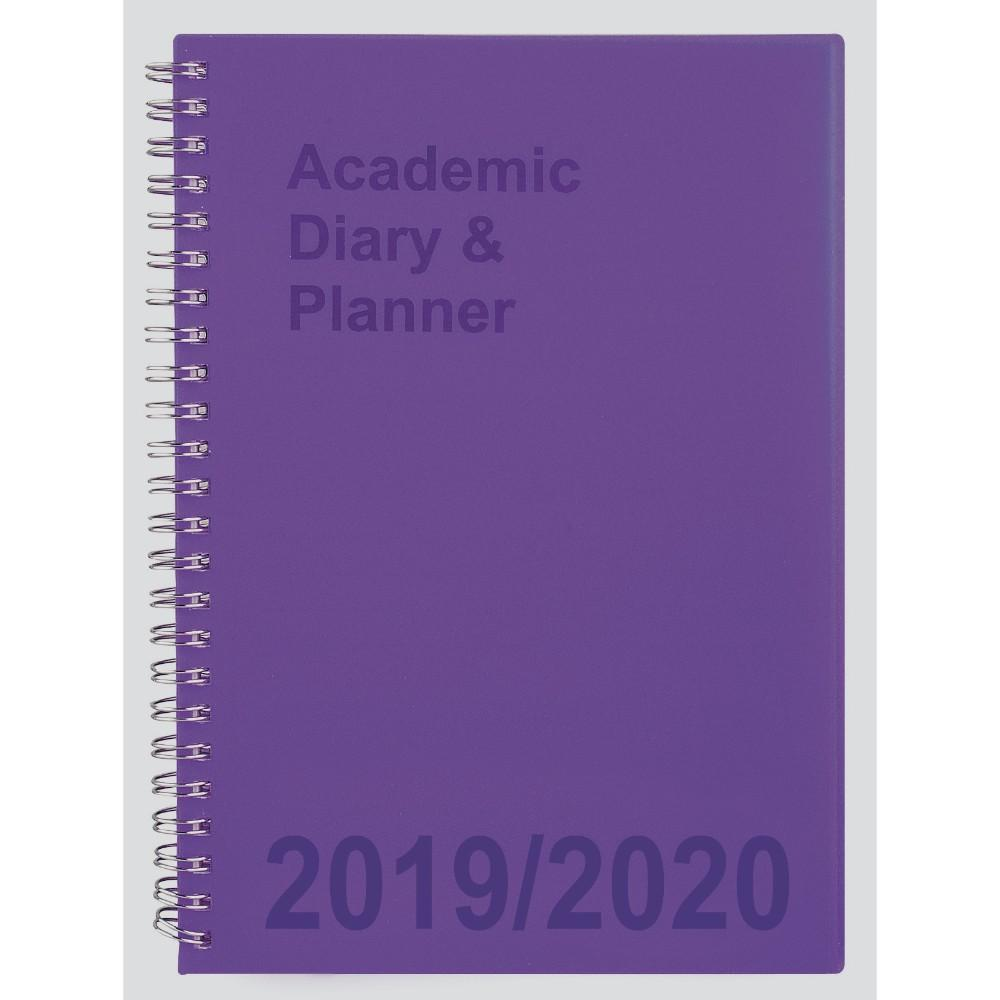 2019-20 A5 Week to View Academic Diary - Purple