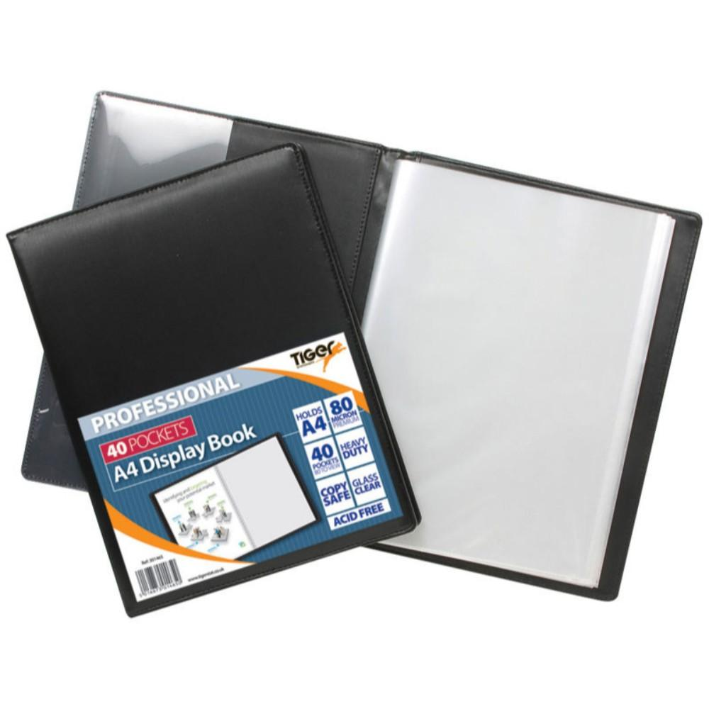 Tiger A4 Professional 40 Pocket Display Book