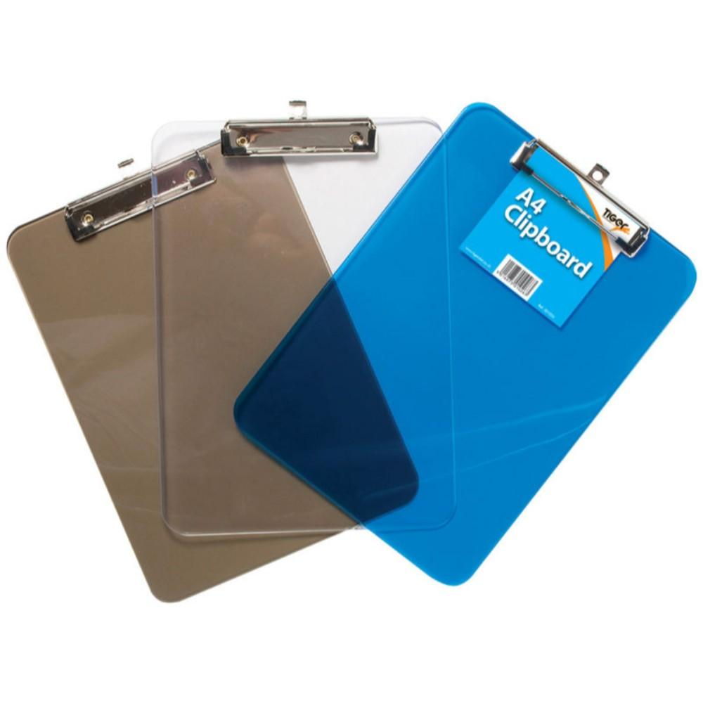 A4 Translucent Coloured Tint Clipboards