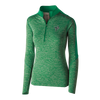 WOMEN'S PULLOVER - GREEN - HALF-ZIP
