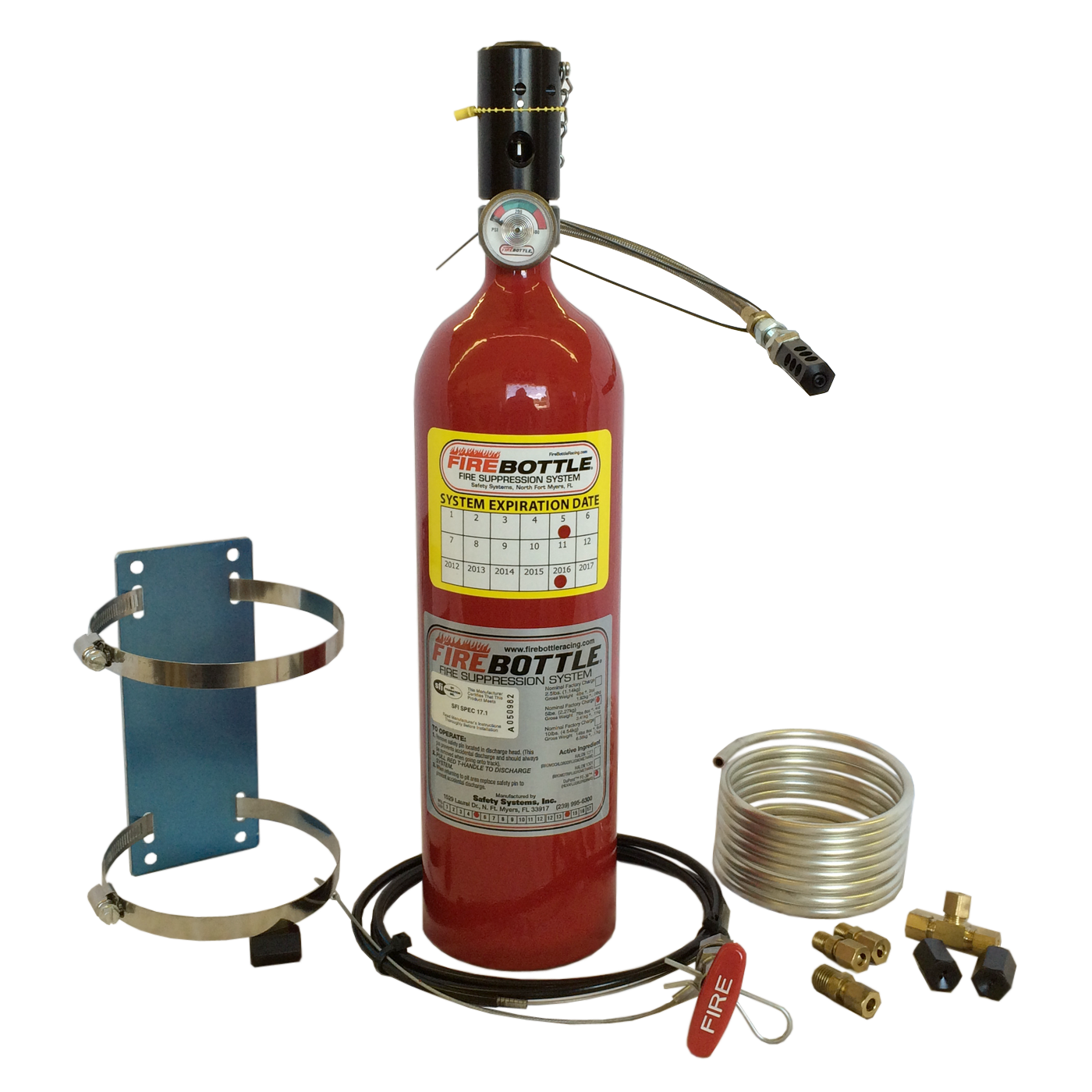 FIRE SYSTEM, 5# PULL AUTOMATIC, LONG BOTTLES ONLY