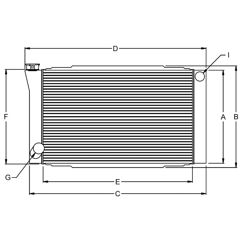 RADIATOR, 19X28 FORD 1.5 IN