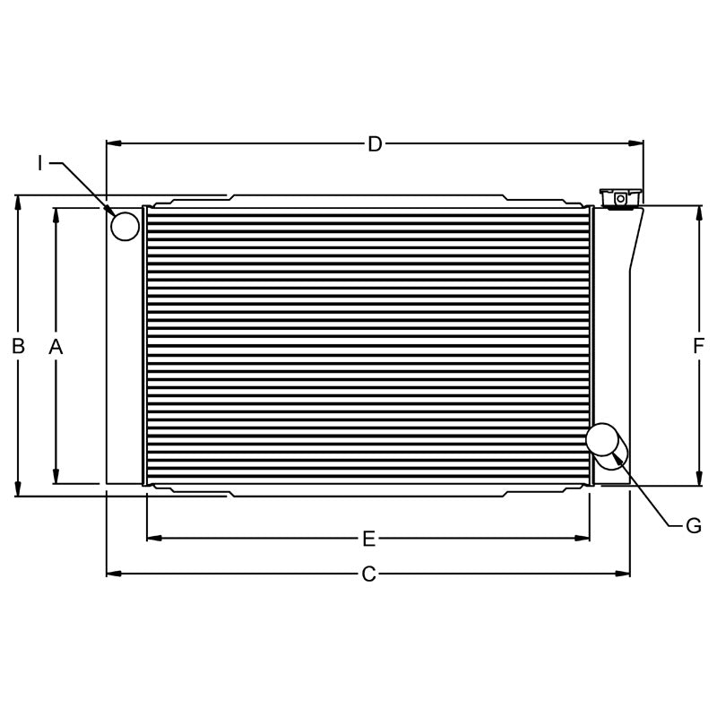 IMPORT BUSTER RADIATOR, 19X26 CHEVY 1.5IN