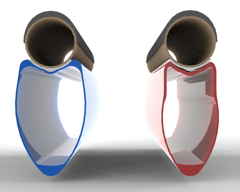 Rendering of 2010 27.5mm wide Hyper-Toroidal Rim vs 2007 22.5mm 303 both with 25mm Tire