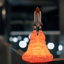 Load image into Gallery viewer, 2019 New Dropship 3D Print Space Shuttle Lamp NIght Light For Space Fans Moon Lamp Rocket Lamp As Room Decoration