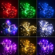 Load image into Gallery viewer, 2M / 5M Battery Powered LED Copper Wire Fairy String light Strips For Christmas Tree Holiday Wedding Decoration Night lighting