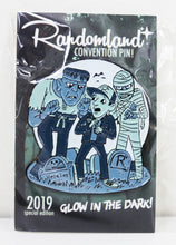 Load image into Gallery viewer, Randomland Special Edition GLOW IN THE DARK Monster Pin!