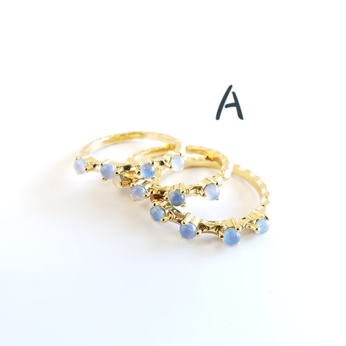 New Gold Stackable Rings !! (7 styles)