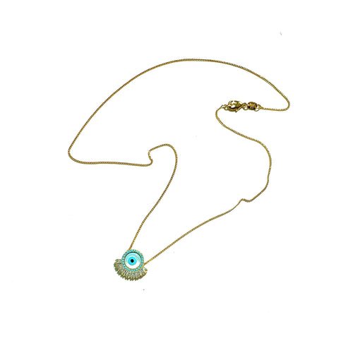 Gold Necklace: Evil Eye Collection