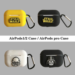 Silicone Cover Case For Airpods 1 2 Accessories For Apple Airpods pro Wireless Charging Case Star Wars Master Yoda Darth Vader