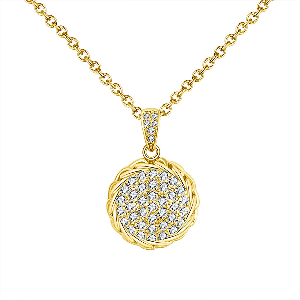 Yellow Gold Medallion Pendant