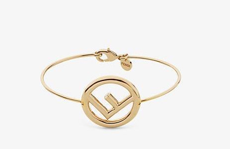 F-Logo Bracelet 14k Yellow Gold