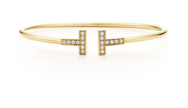 18K Yellow Gold and Diamond Cuff
