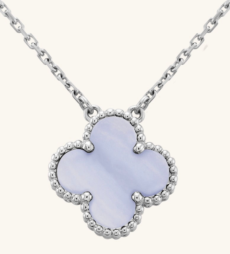 White Gold and Chalcedony Pendant