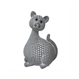 Art Deco Spotted Cat, Grey