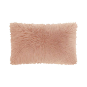 Rose Faux Fur Lumbar Pillow