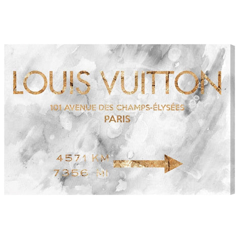 Louis Vuitton Road Sign, 20x30 Canvas