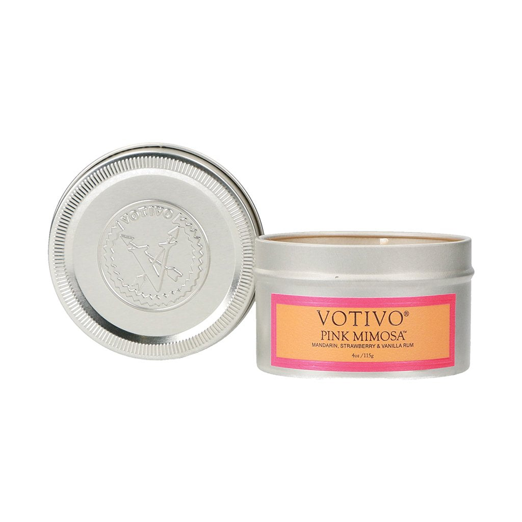 Pink Mimosa, Votivo Candle, Travel Tin