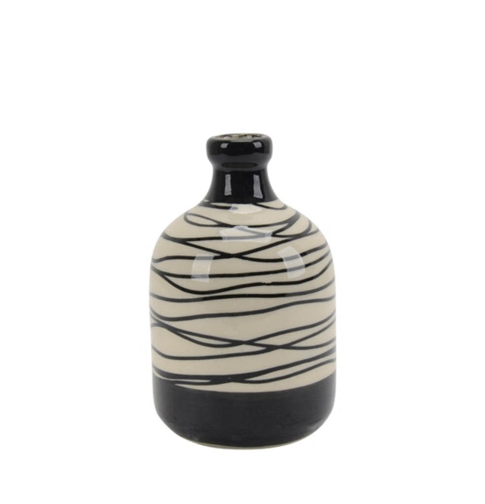 Black & Ivory Vases, Small