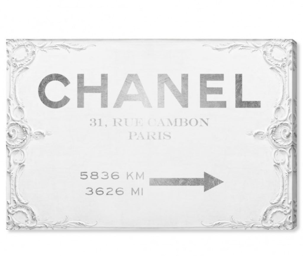 Chanel Road Sign, Canvas
