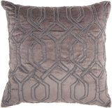 Dark Grey Embroidered Interlock Pillow