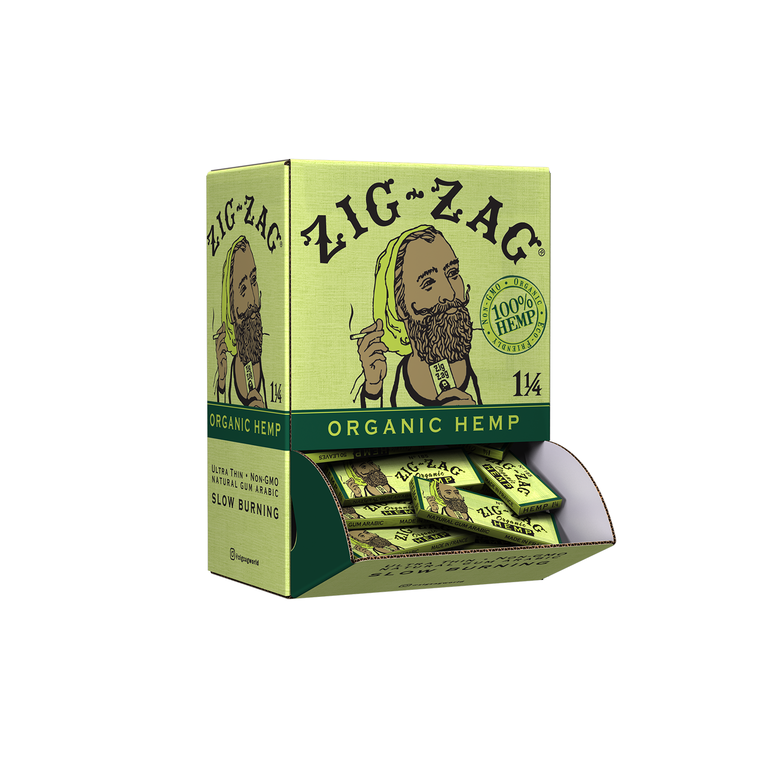 Promo Display (48 Pack) - 1 1/4 Organic Hemp Papers