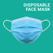 Load image into Gallery viewer, Disposable Face Masks - Pack of 50 - FREE SHIPPING