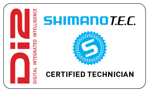 Certified technician for Shimano Di2 electronic shifitng systems