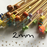 Wholesale 2mm (us  size 0) Beaded Knitting Needles
