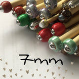 Wholesale 7mm (us size 10.5) 1 Pair Beaded Knitting NeedleCrochet Hook