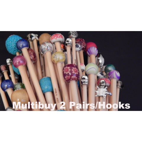 Multi-Buy 2 Pairs Of Knitting Needles/2 Hooks - Funky Needles Knitting Boutique