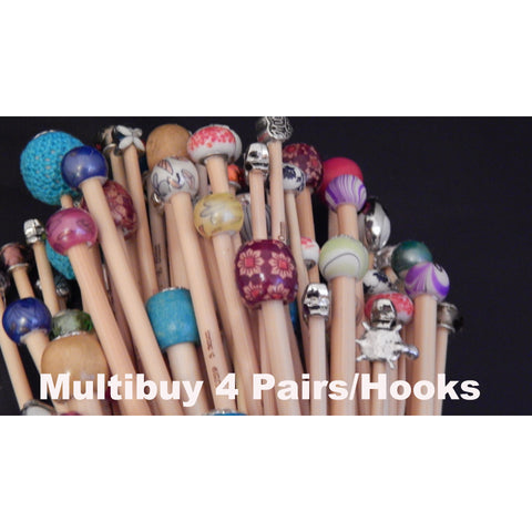 Multi-Buy 4 Pairs of Knitting Needles/4 Hooks - Funky Needles Knitting Boutique