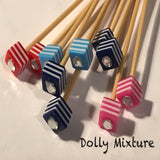 Wholesale 3.75mm (US size 5) 1 Pair Beaded Bamboo Knitting Needles