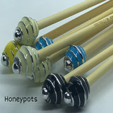 Wholesale 5mm (US size 8) 1 Pair Beaded Bamboo Knitting Needles/Crochet Hook