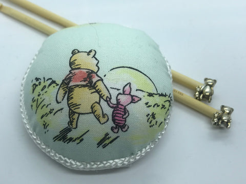Winnie the Pooh Knitting Needles and Wrist Pin Cushion Gift Set