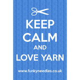 Keep Calm Eco Kniting/Crochet Bags - Funky Needles Knitting Boutique