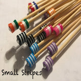 Wholesale 4mm (US size 6) 1 Pair Beaded Bamboo Knitting Needles Unmarked
