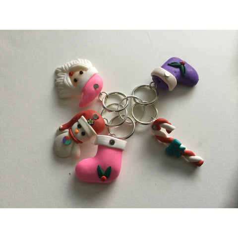 Christmas Stitch Markers - Funky Needles Knitting Boutique