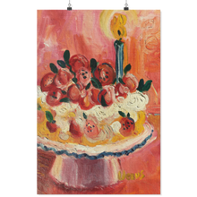 Load image into Gallery viewer, Red Fruit Kitchen Cake - Archival Matte Wall Poster