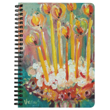 Load image into Gallery viewer, Golden Candles Spiral Notebook