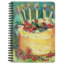 Load image into Gallery viewer, Peacock Cake Notebook