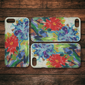 A Dahlia Dreams iPhone Case