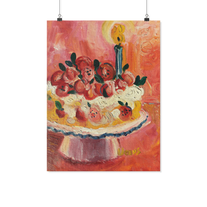 Red Fruit Kitchen Cake - Archival Matte Wall Poster