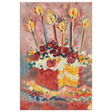 "Load image into Gallery viewer, Happy Birthday Kitchen Cake on 1.25"" Wrapped Canvas"